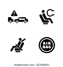 Auto protect. Simple Related Vector Icons Set for Video, Mobile Apps, Web Sites, Print Projects and Your Design. Black Flat Illustration on White Background.