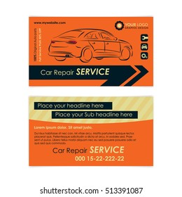 Auto repair business card template create stock vector royalty free auto repair business card template create your own business cards mockup vector illustration accmission Gallery