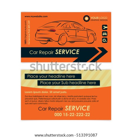 Auto repair business card template create stock vector royalty free auto repair business card template create your own business cards mockup vector illustration friedricerecipe Choice Image