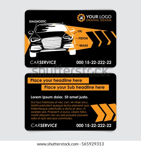 Auto repair business card template create stock vector royalty free auto repair business card template create your own business cards mockup vector illustration wajeb Image collections