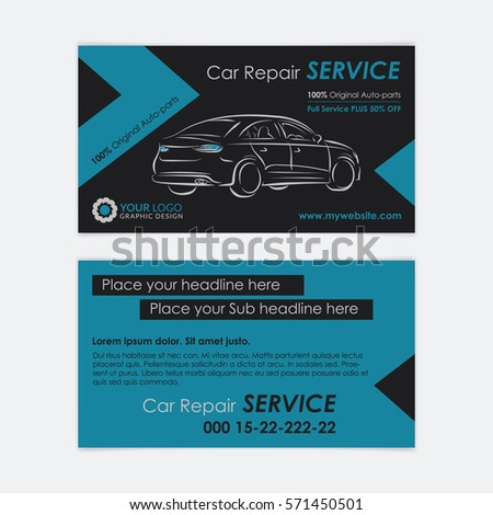 Auto repair business card template create stock vector royalty free auto repair business card template create your own business cards mockup vector illustration cheaphphosting Choice Image