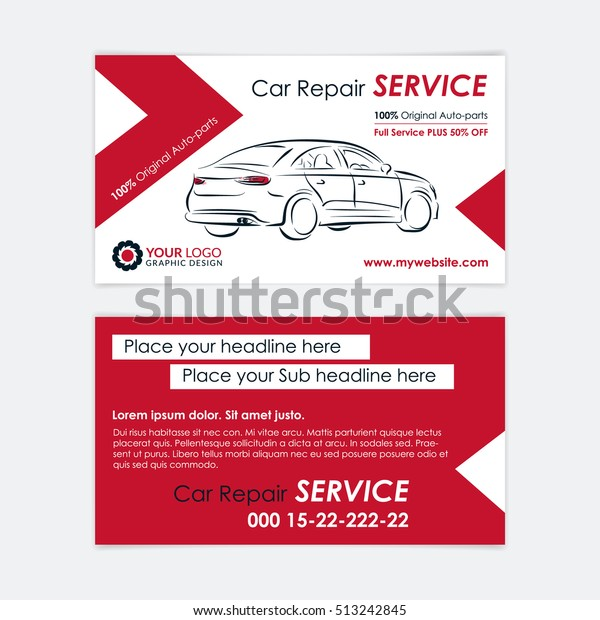 Bring Your Own Parts Auto Repair >> Auto Repair Business Card Template Create Stock Vector