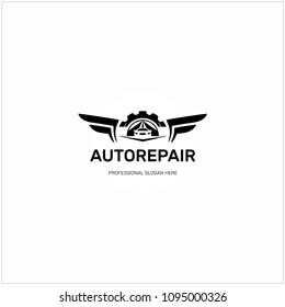 Auto Repair Design Logo Template Element. Vector Logotype