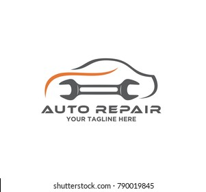Auto repair garage vector. auto service icon. repair logo template