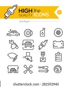 Auto Repair line icons