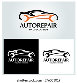 Auto repair logo design template. Vector illustration