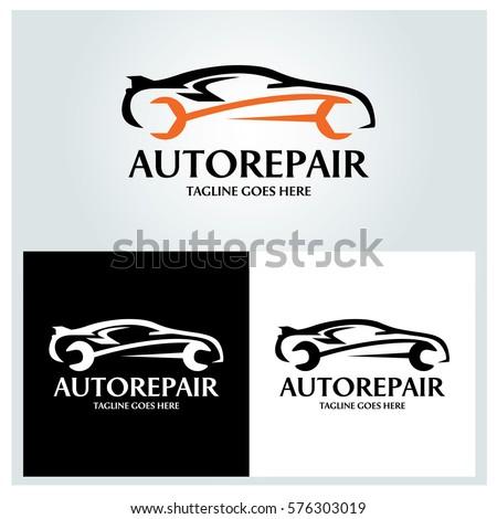 auto repair logo design template vector のベクター画像素材