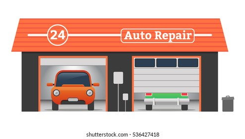 Auto repair garage stock images royalty free images for Garage concept auto