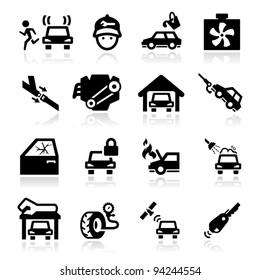 Auto Repairs Icons set - Elegant series