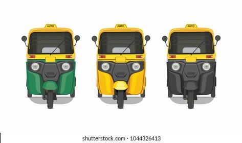 auto rickshaw front view