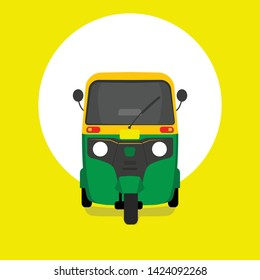 Auto rickshaw front view - Vector illustration