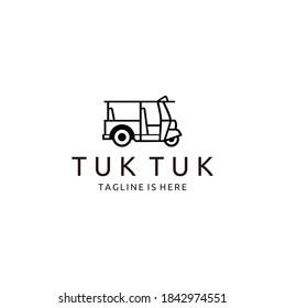 Auto Rickshaw Glyph Icon, Tuk tuk, Silhouette Symbol Vector Isolated Illustration