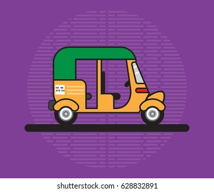 Auto rickshaw vector illustration