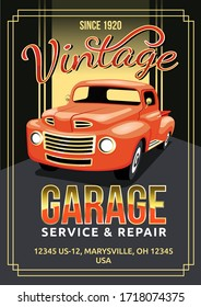 auto service flyer vector graphic for any business