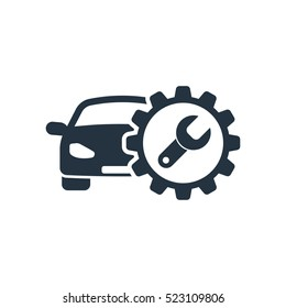 auto service, isolated icon on white background, auto service, car repair