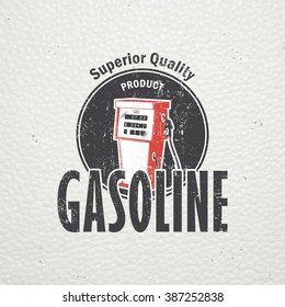 Auto service set. Rent a Car. Garage auto. Detailed elements. Old retro vintage grunge. Scratched, damaged, dirty effect. Typographic labels, stickers, logos and badges. Flat vector illustration