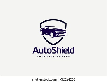 Auto Shield Logo Template Design. Creative Vector Emblem for Icon or Design Concept