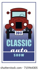 Auto Show / A classic automobile is on display.