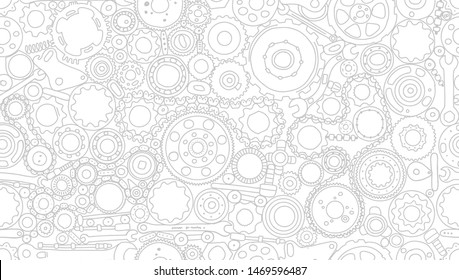 Auto spare parts and gears, seamless pattern for your design