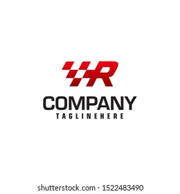 Auto speed letter R logo template vector illustration