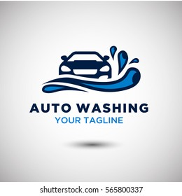 Auto Washing Logo Vector. Automotive and Transportation Logo template