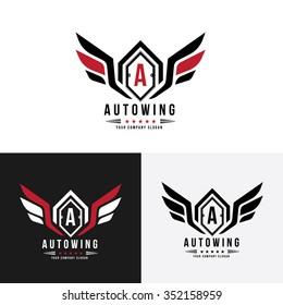 Auto wing, Automotive logo Template