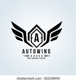 Auto wing, Car and automotive vector logo template
