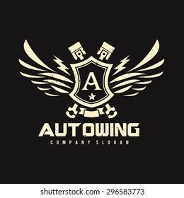 Auto Wing Vector Logo Symbol