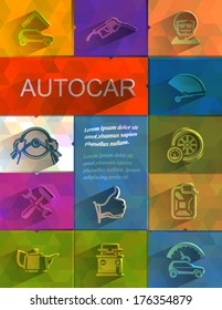 Autocar icons. Vector format