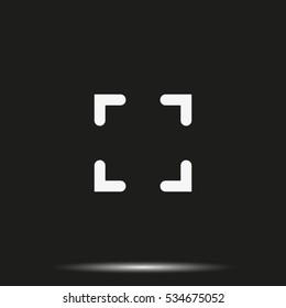 Autofocus zone sign icon.
