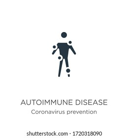 Autoimmune disease icon vector. Trendy flat autoimmune disease icon from Coronavirus Prevention collection isolated on white background. Vector illustration can be used for web and mobile graphic