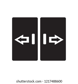automated door icon. Trendy automated door logo concept on white background from smarthome collection. Suitable for use on web apps, mobile apps and print media.