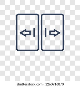 automated door icon. Trendy automated door logo concept on transparent background from Smarthome collection