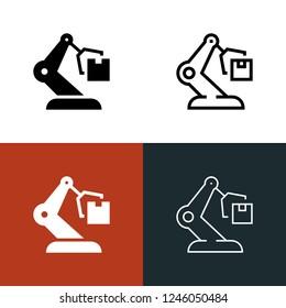 Automated Warehouse Icon Set