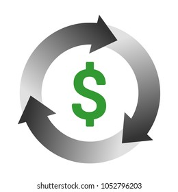 Automatic bill payment or revenue cycle management color vector icon for apps and websites