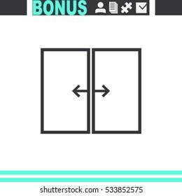 Automatic door vector icon.