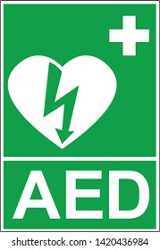 Signal d'urgence Défibrillateur externe automatique (DAE, AED)