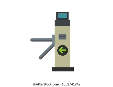 automatic gate machine simple flat icon