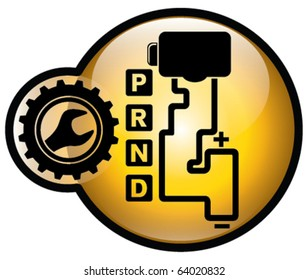 Automatic gear shift repair sign