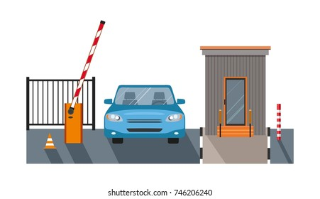 Automatic Rising Up Barrier, automatic system gate for security