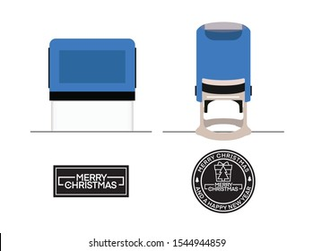 Automatic Stamp - Self-inking office Stamps Rubber stamp cuttable, usable, rubber stamp (Ready for laser cutting) with merry christmas text