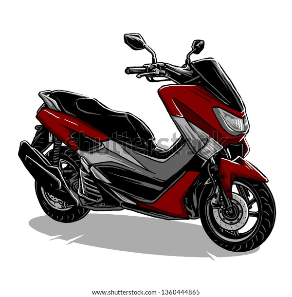 Automatic Transmission Motorcycle Vector Stock Vector