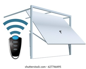 Automatic wireless garage door system - remote open