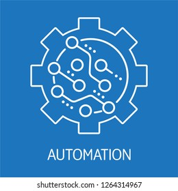 Automation. Electronic control. Vector icon on isolated background.