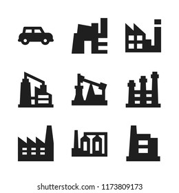automation icon. 9 automation vector icons set. automobile and factory icons for web and design about automation theme