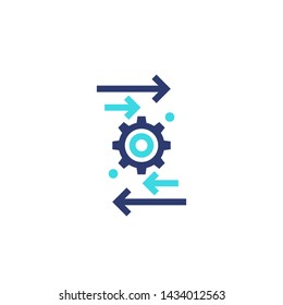 automation and optimization vector icon on white