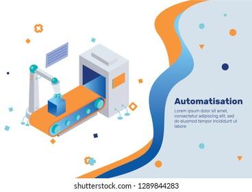 Automatisation. Isometric Concept.