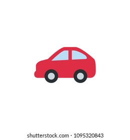 Automobile car side vector illustration flat icon symbol cartoon style