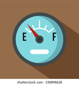 Automobile fuel sensor icon. Flat illustration of automobile fuel sensor vector icon for web isolated on coffee background