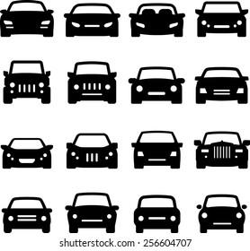 Automobile icon set / Front views
